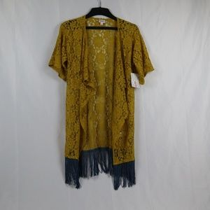 LuLaRoe Monroe Gold and Blue